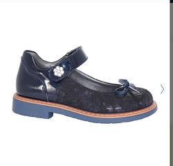 Синие туфли с бантиком