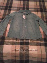 Новая, джинсовая рубашка фирмы Papaya weekend размер14