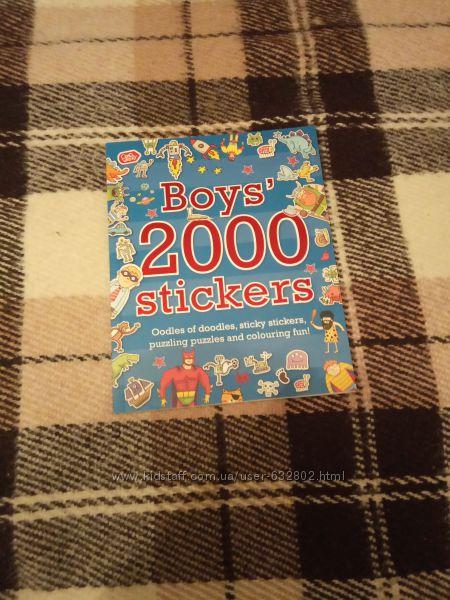 Новая книга на английском языке Boys 2000 stickers
