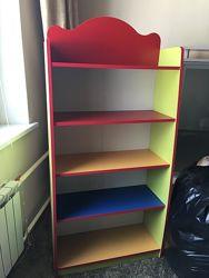 Детская этажерка разноцветная