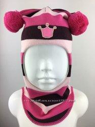 Распродажа. Яркий демисезонный шлем Beezy для девочки. Белочка. 2р.