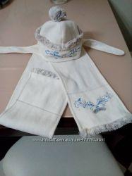 Шапка і шарф. Теплий комплект Wojcik на 1-2 роки
