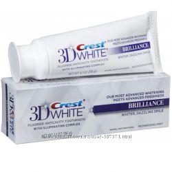 Зубная паста крест Crest 3D White Brilliance США