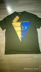 Мужская футболка Fine Look, р. S фирменная, хлопок, качественный накат