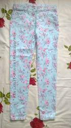 моднявые цветочные скинни F&F р. 146 на 10-11 лет