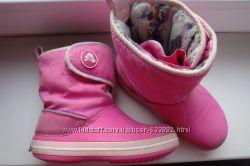 Ботинки сапожки Crocs на девочку С13 30-31 размер.