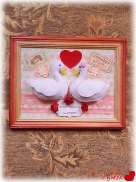 Интерьерное свадебное панно