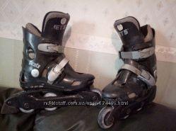 Ролики детские RollerJet550на мальчика33р. черные.