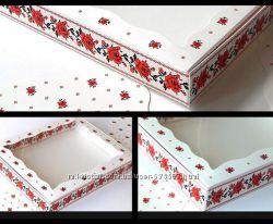 Шикарные коробки для пряников, handmade, подарки новинка-коробок-вышиванка
