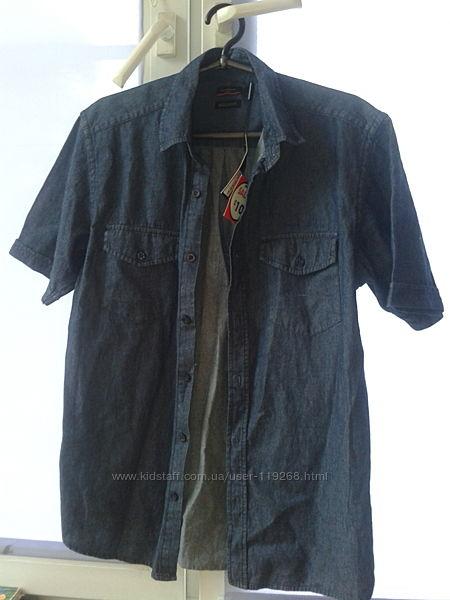 Джинсовая рубашка S pierre cardin  оригинал