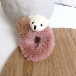 Резинки для волос пушистые Медвежонок