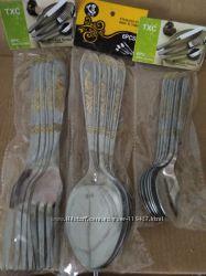 Набор приборов  вилки, столовые и чайные ложки. 6 персон.