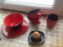 Сервиз с подставками для яиц. 2 персоны. Отличная сервировка на завтрак