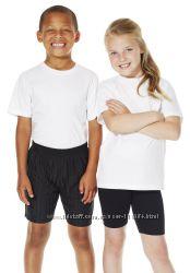 Белая футболка спорт Danskin США хлопок с 2 до 12 лет девочкам мальчикам