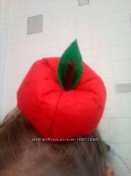 Яблоко из фетра на утренник