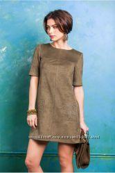 Стильное платье замша M