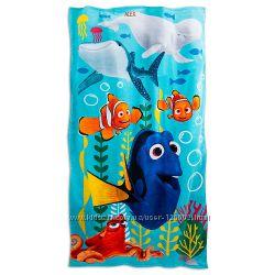 Большие пляжные полотенца Disney 152см х76см - рыбка Дори, русалочка Ариель