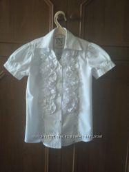 Белая школьная нарядная блузка