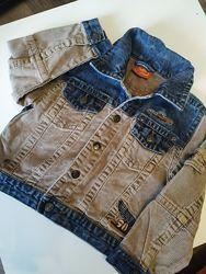 Джинсовый пиджак для модника, 104 рост