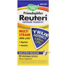 Nature&acutes Way, Primadophilus Reuteri, улучшенный пробиотик, 90 вегетариански
