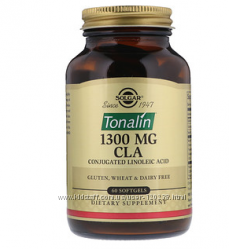 Solgar, Тоналин КЛК, 1300 мг, 60 гелевых капсул