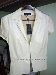 Пиджак-блуза кожаный, бренд GUCCI, размер 42