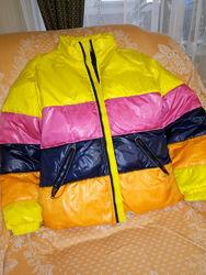 Куртка-пуховик Frutta оригинал, внутри пух, теплая, яркая