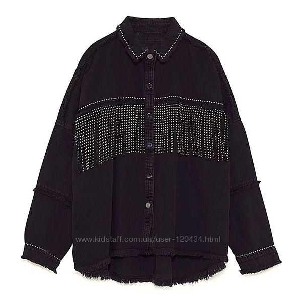 Новая джинсовая курточка с бахромой ZARA Оригинал
