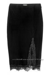 Шикарная велюровая юбка H&M , размер М