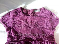 Продам новое красивенное платье NEXT, Некст, 116 см, 6 лет, цвет марсал