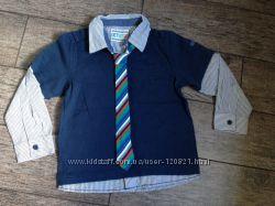 Реглан рубашка -обманка Mothercare , р. 110.
