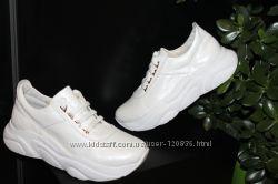 Новинки 2019, белые кроссовки, кожа натуральная, 36-40р