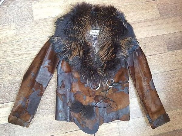 Куртка дубленка кожаная, 44-46