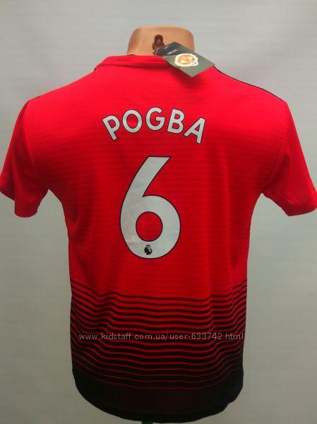 Футбольная форма детская Manchester United Pogba 2018-19 красная