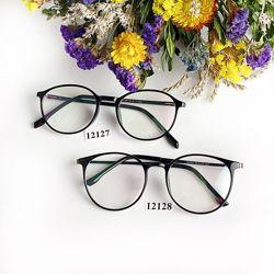 Имиджевые очки антиблик  в черной оправе к.12127,12128