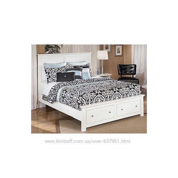 Княжна - двухместная, двуспальная кровать с ящиками, настоящее дерево