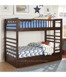 Двухъярусная деревянная кровать трансформер - Ultra