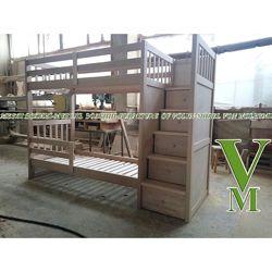 Школьник - двухъярусная кровать с ящиками комодами