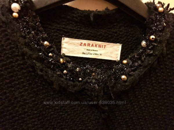 Пальто ZARA p. S. styl Chanel. жемчуг. бусины. оригинал.