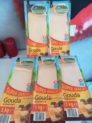 Вкусный сыр GAUDA Гауда Польша 1 кг нарезка