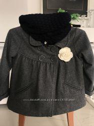 Стильное пальто -пончо Cherokee деми  для девочки 4-5-6лет