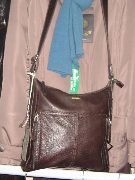 Новая  кожаная сумка Seque, Италия подходит на подарок