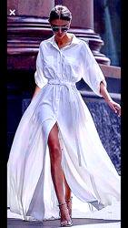 Платье разлетающееся, парящее, порхающее нежное льняное летнее