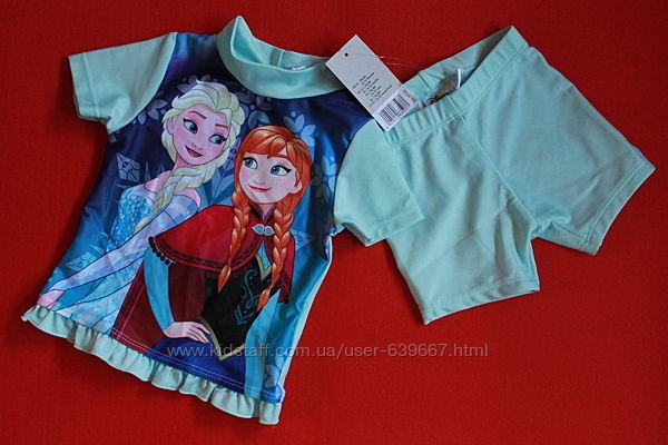 Купальный солнцезащитный костюм Lupilu для девочки 9-12 и 18-24 мес