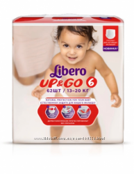 Libero Up & Go Подгузники-трусики 5-62шт, 6-62шт