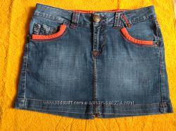 Фирменная джинсовая юбка мини madoc