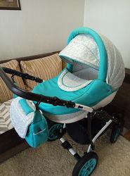 Продам коляску 2 в 1  Adamex Lara Lux очень удобная для мамы и ребенка