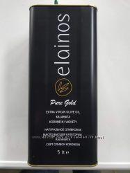 Греческое оливковое масло экстра-класса ELAINOS Extra-virgin 5л