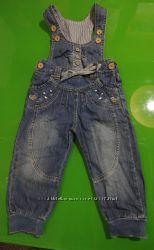 Полукомбинезон для  девочки джинсовый