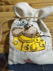 Подарочные натуральные мешочки
